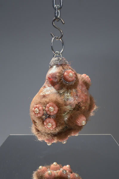 Doreen Garner, Pearl Necklace with Meat Sack, 2015
