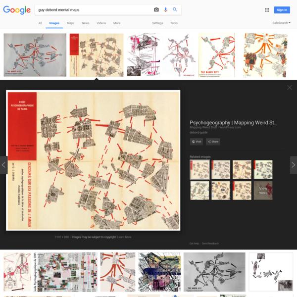guy debord mental maps - Google Search