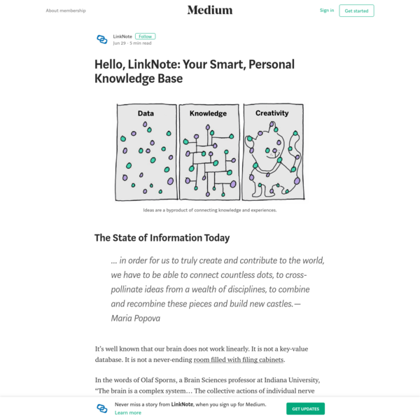 Hello, LinkNote: Your Smart, Personal Knowledge Base