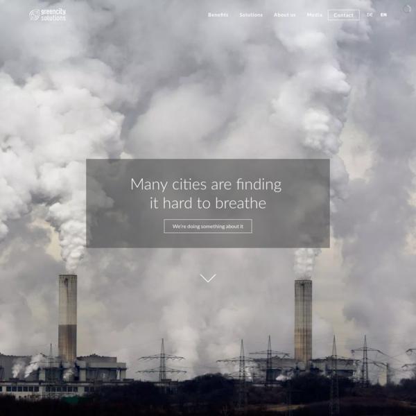 Vertikale Luftreinhaltung und Marketing, nachhaltige Lösungen.