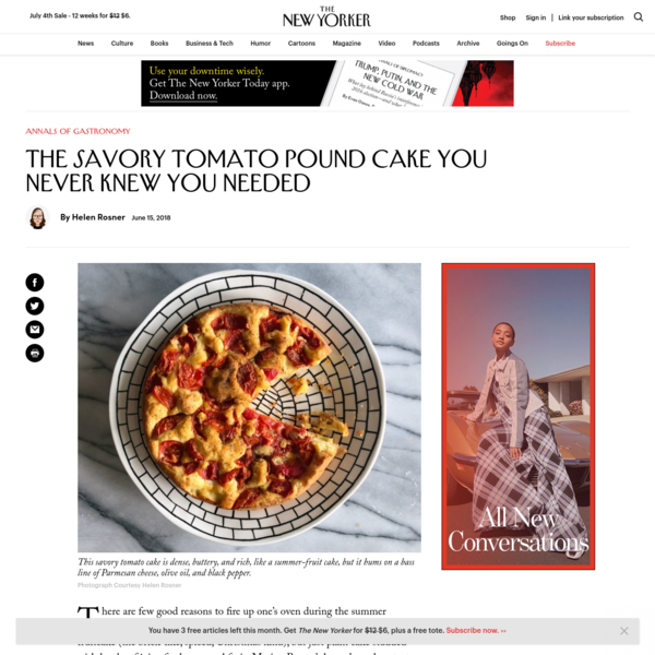 The Savory Tomato Pound Cake You Never Knew You Needed