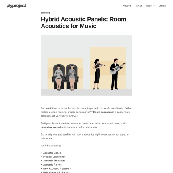 Hybrid Acoustic Panels - Room Acoustics for Music - plyproject