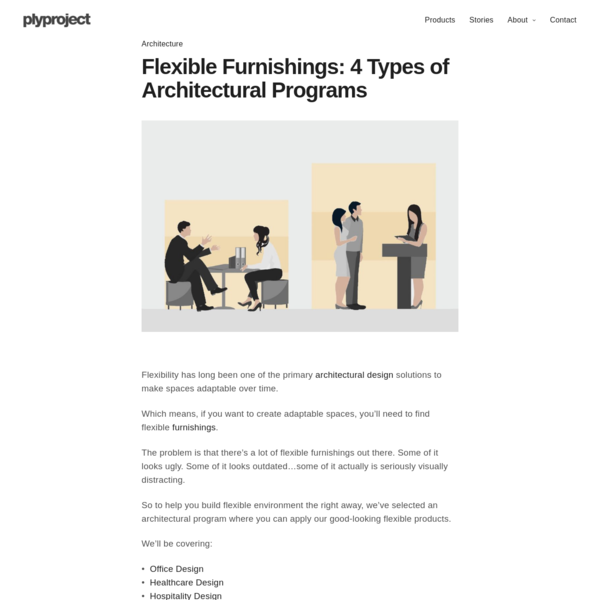 Flexible Furnishings - 4 Types of Architectural Programs - plyproject
