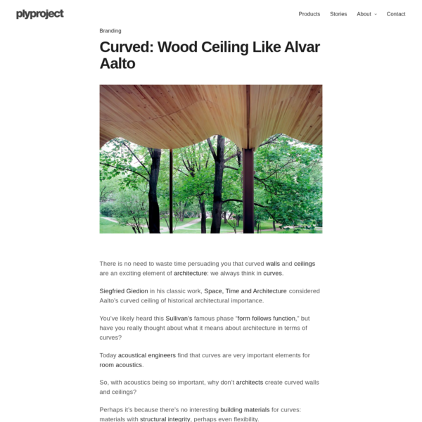 Curved - Wood Ceiling Like Alvar Aalto - plyproject