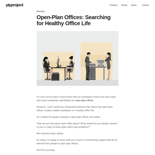 Open-Plan Offices - Searching for Healthy Office Life - plyproject