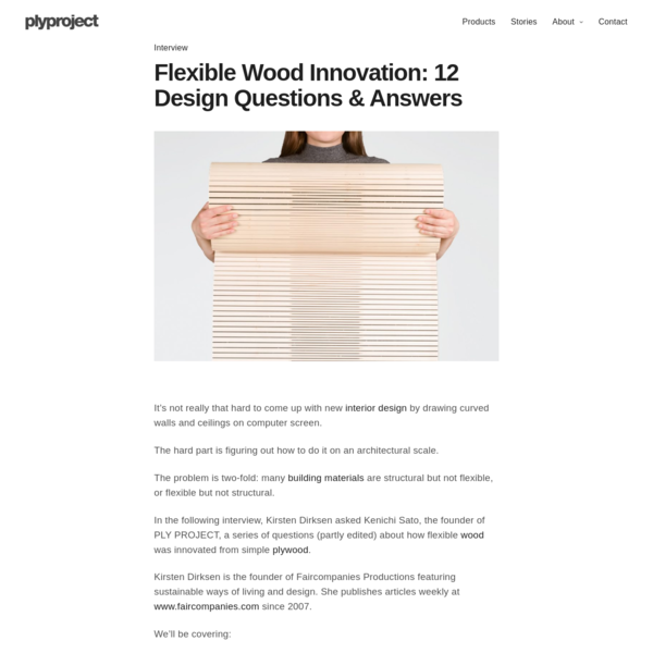 Flexible Wood Innovation - 12 Design Questions & Answers - plyproject