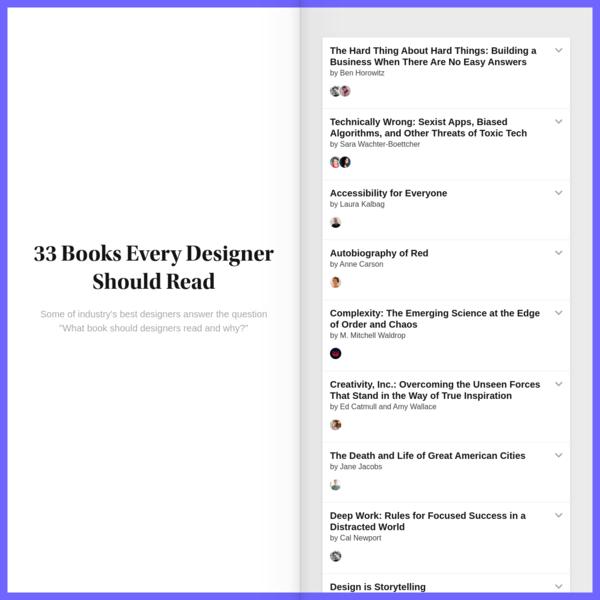 Readinglist.design - Books Every Designer Should Read