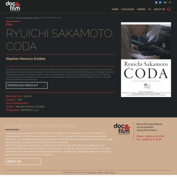 One of the most important artists of our era, Ryuichi Sakamoto has had a prolific career spanning over four decades, from techno-pop stardom to Oscar-winning film composer. The evolution of his music has coincided with his life journeys....