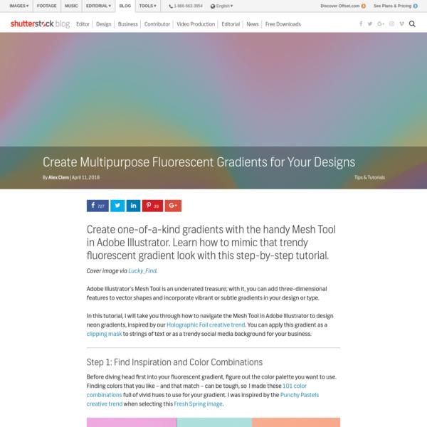Create Multipurpose Fluorescent Gradients for Your Designs