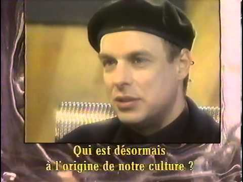 Rencontre / Begegnung- Brian Eno mit/avec Ron Arad. ARTE France, broadcast date: 17 May 1993 Encounter - Brian Eno with Ron Arad Designer and architect interviews Brian Eno about music production, art etc. The conversation is in English with French hardsubs. There is no officially released material incl.