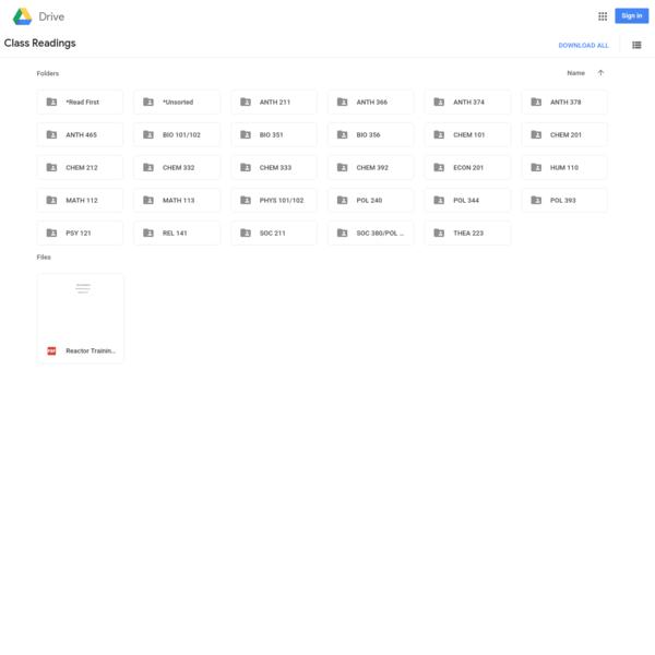 Class Readings - Google Drive