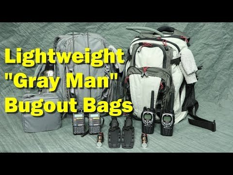 "Best ""Gray Man"" Bugout Bags for Two (and why they include SCUBA gear ?!!)"