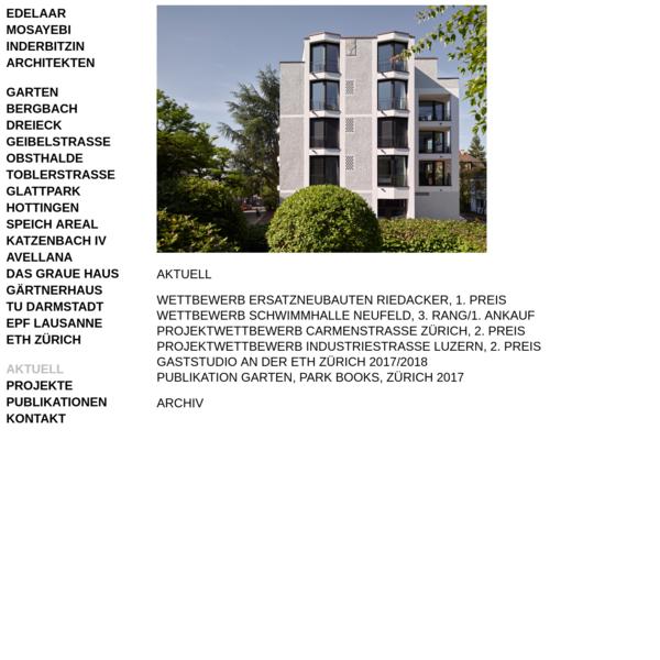 EDELAAR MOSAYEBI INDERBITZIN | Architekten AG ETH SIA BSA