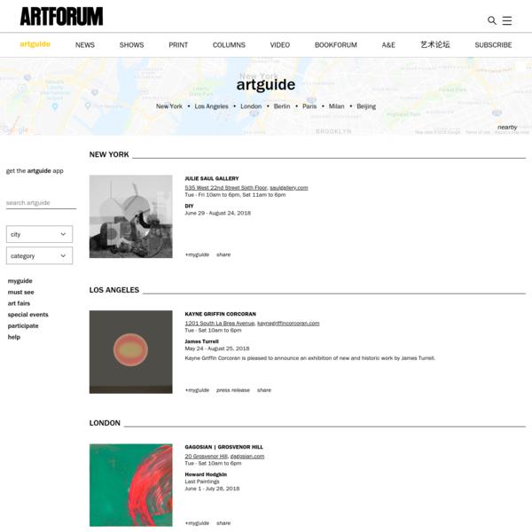 Artforum Artguide
