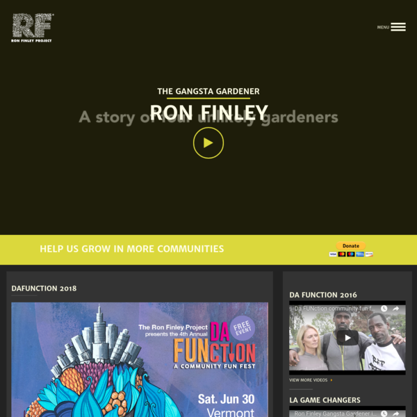 Ron Finley is an artist, designer & gardener, based in Los Angeles. Finley serves the community by teaching people the power of growing your own food.