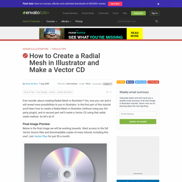 How to Create a Radial Mesh in Illustrator and Make a Vector CD