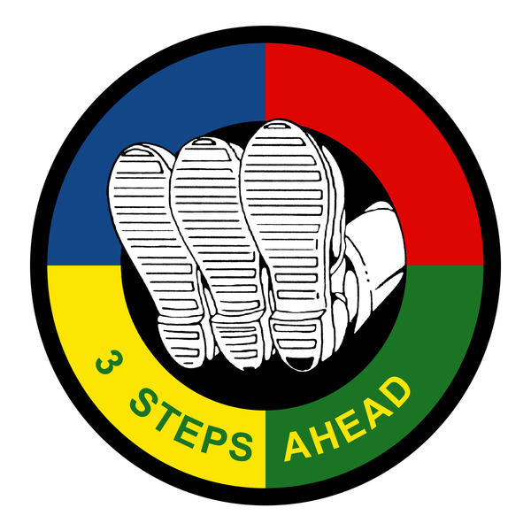 3 steps ahead logo