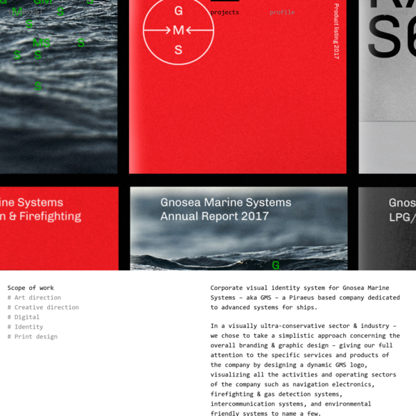 Visual identity system for GMS, a Piraeus based maritime company -