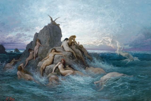 Les Océanides, dit aussi Naïades de la mer, de Gustave Doré