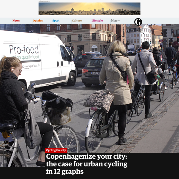 Copenhagenize your city: the case for urban cycling in 12 graphs