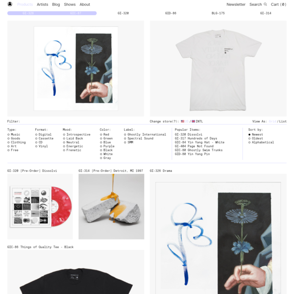 Ghostly is a record label and art company that aims to provide work of high quality, integrity and individuality.