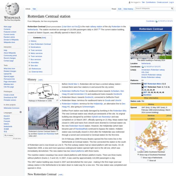 Rotterdam Centraal station - Wikipedia