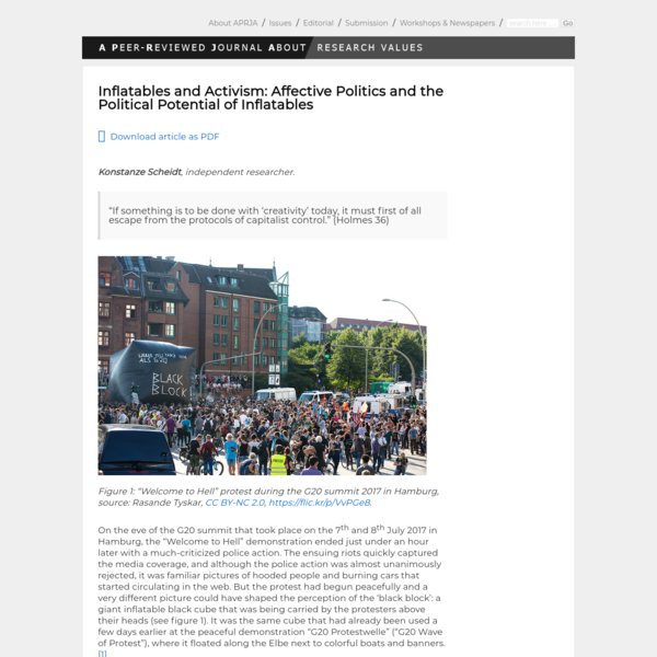 Inflatables and Activism: Affective Politics and the Political Potential of Inflatables