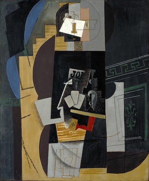 Pablo Picasso - L'Homme aux cartes, 1913-14