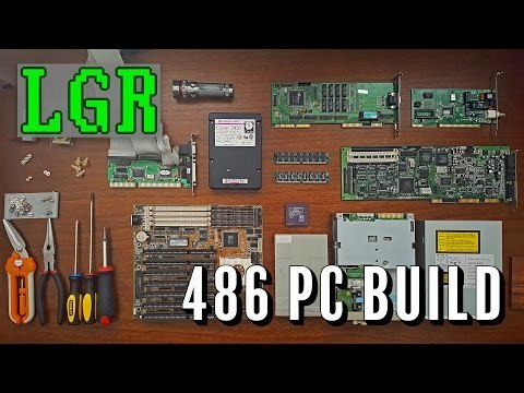 """Celebrating SEVEN contiguous years of LGR by building the """"Woodgrain 486!"""" The idea here is to build a PC piece by piece that would fit in around 1994, using spare parts and simulated wood."""