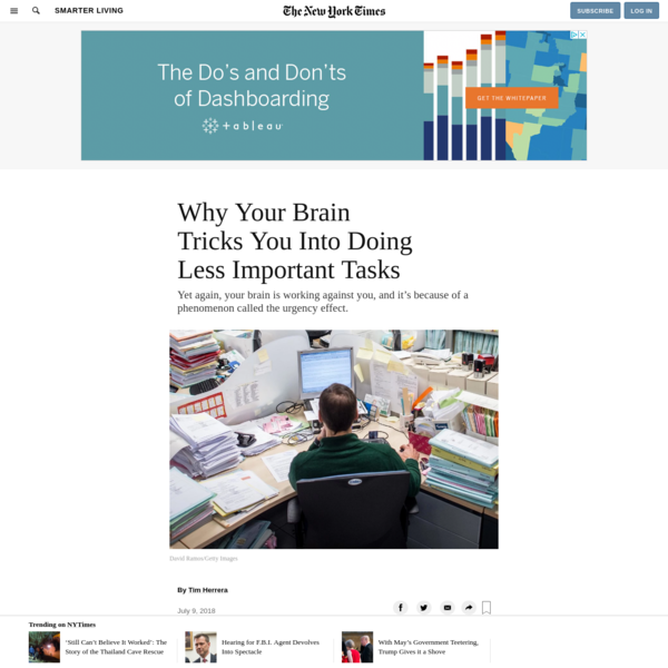 Yet again, your brain is working against you, and it's because of a phenomenon called the urgency effect. Here's a list of things I did before starting this newsletter: I filled out the documents to renew my passport; clipped my cat's nails; bought some household items; responded to a few Instagram DMs; and ate a snack because I was hungry.