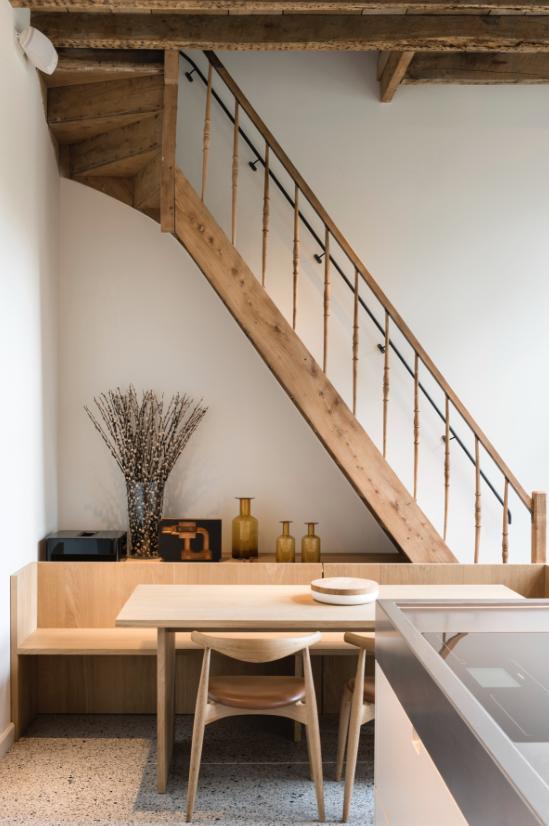 stairway detail- handles-wood