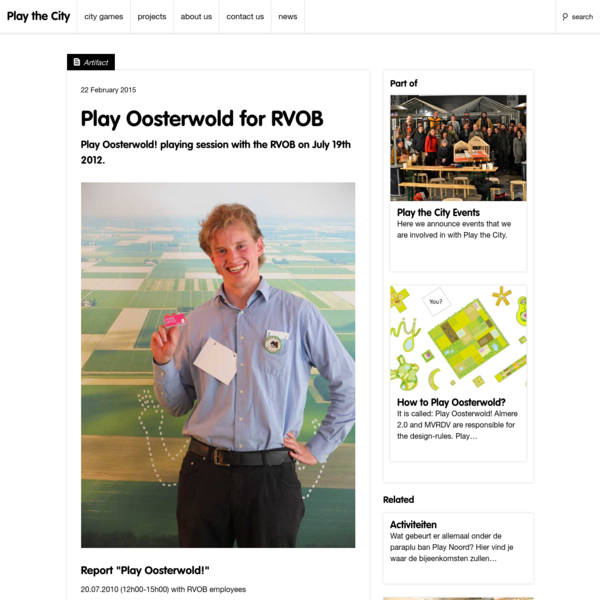 Play Oosterwold for RVOB