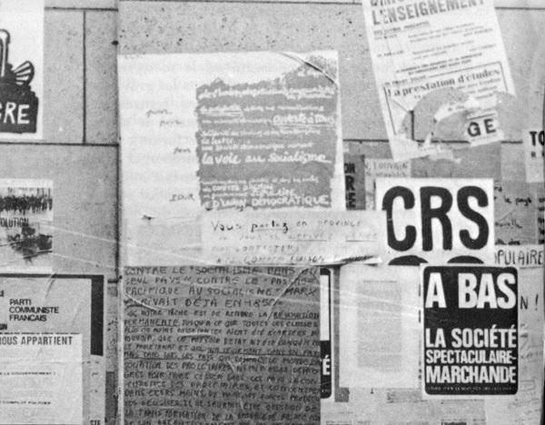 Conseil pour le maintien des occupations, Paris, 1968