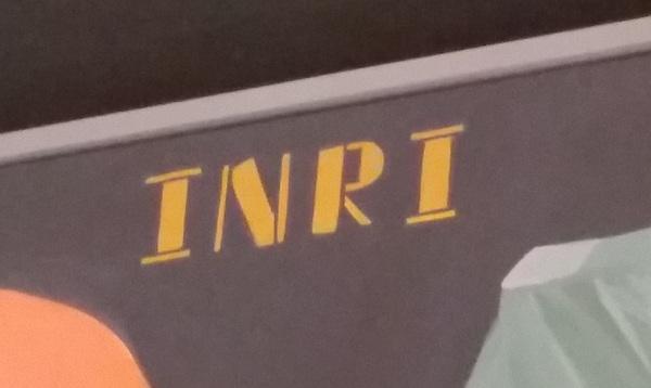 INRI stencil