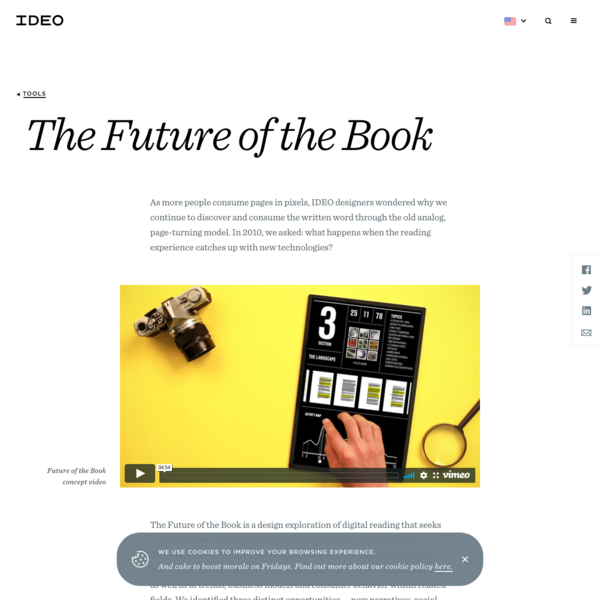 "IDEO's ""Future of the Book"" explores what happens when reading catches up to technology"