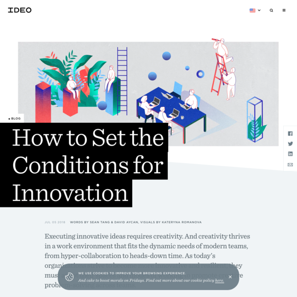 How to Set the Conditions for Innovation