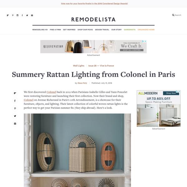 Summery Rattan Lighting from Colonel in Paris - Remodelista