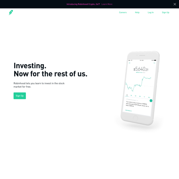Invest in stocks, options, ETFs, and cryptos, all commission-free. $0 minimum deposit. Secure platform trusted by millions. Start investing today.
