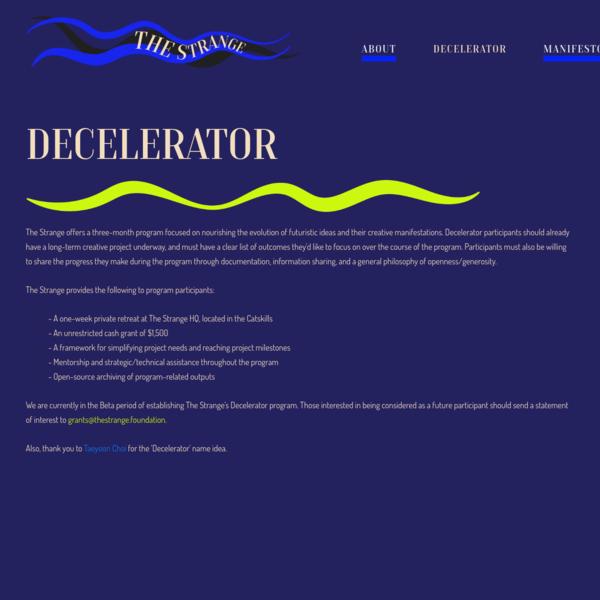 Decelerator - The Strange Foundation