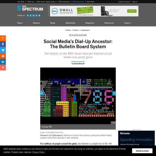 Social Media's Dial-Up Ancestor: The Bulletin Board System