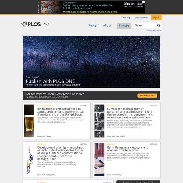 PLOS ONE: accelerating the publication of peer-reviewed science