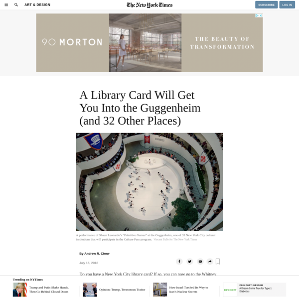 A Library Card Will Get You Into the Guggenheim (and 32 Other Places)