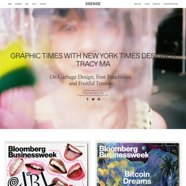 Graphic Times with New York Times Designer Tracy Ma
