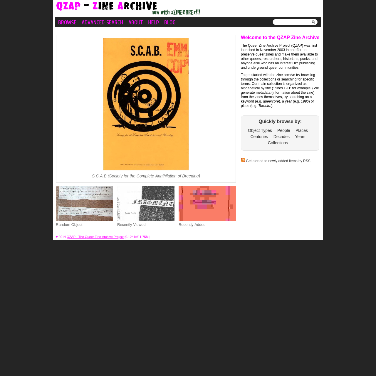 Are.na / QZAP - Queer Zine Archive