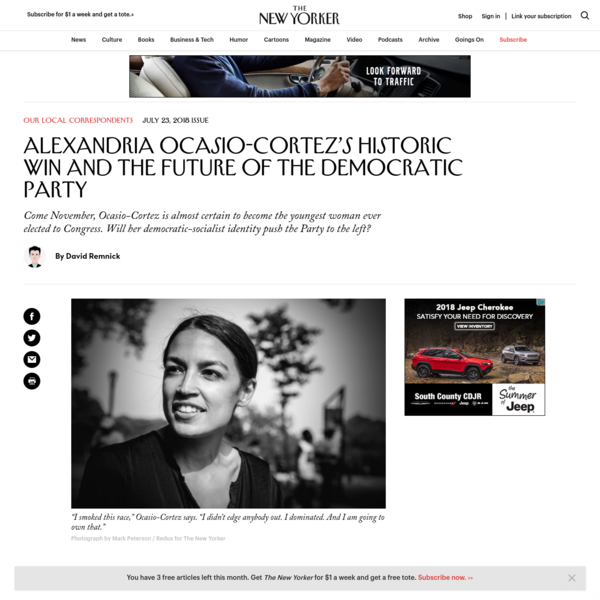 Alexandria Ocasio-Cortez's Historic Win and the Future of the Democratic Party