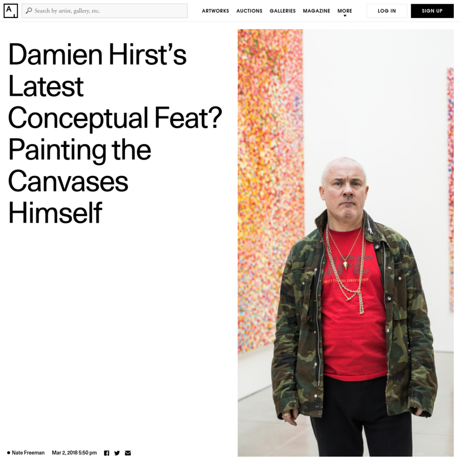 """Nearly a year ago, a show opened in Venice that took Hirst and his studio, which is called simply """"Science,"""" approximately one decade and $65 million to create: """"Treasures from the Wreck of the Unbelievable,"""" a mind-altering spectacle that placed 189 objects, some 60 feet tall, across the two palazzos owned by French billionaire François Pinault, a longtime fan of his work who owns quite a lot of it, and has the funds to bankroll his most ambitious fever dreams. The reviews ranged from rapturous to extremely unfavorable, but weighed more heavily toward the unfavorable."""