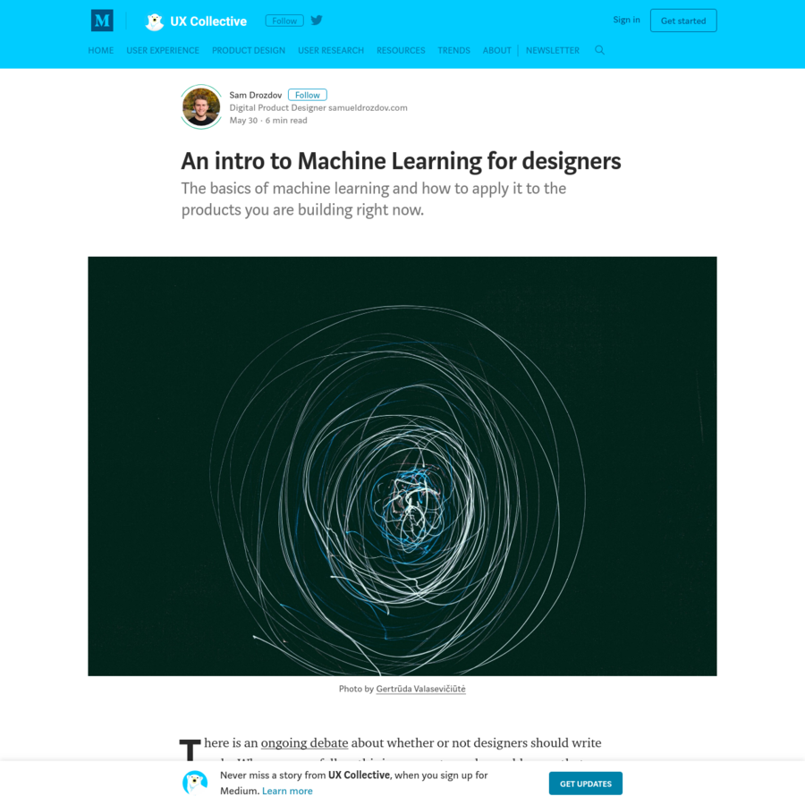 The basics of machine learning and how to apply it to the products you are building right now. There is an ongoing debate about whether or not designers should write code. Wherever you fall on this issue, most people would agree that designers should know about code.