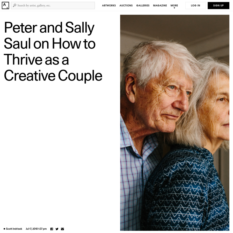 Artists are driven and competitive; after all, there isn't an infinite amount of fame to go around. If we imagine two recent MFA grads settling down for a life together, we might also imagine the stress (and possible bitterness) that might result: What if one partner's career skyrocketed, while the other's fizzled?