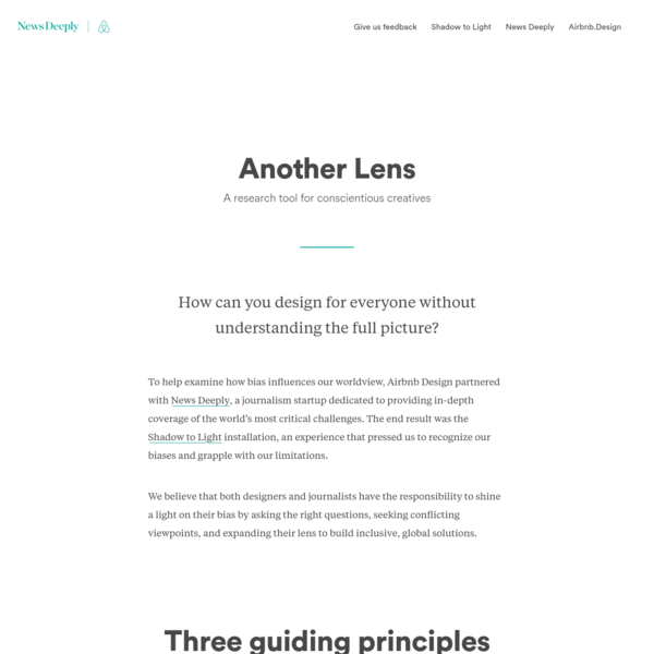 Another Lens - News Deeply x Airbnb.Design