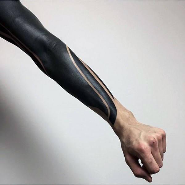 f8b49700a Are.na / full-black-ink-sleeve-blackwork-mens-simple-lines-tattoo.jpg